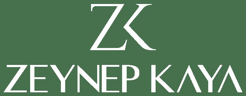 ZK Zeynep Kaya Logo Beyaz
